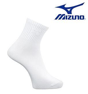 美津濃 MIZUNO 學生薄底短襪 運動襪 D2TX610801 (白X白) [陽光樂活]