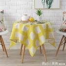 卡通印花加厚棉麻布藝小清新桌布陽台小圓形桌布正方形小桌布 618購物節