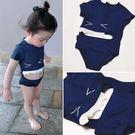 兒童泳裝 2019兒童寶寶鯊魚連體泳衣男童嬰兒連體泳衣溫泉韓國