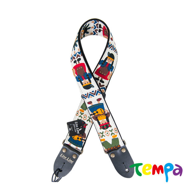 【Tempa】LiveLine日本製高質感吉他背帶印第安