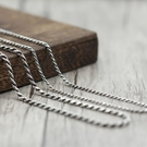 《 QBOX 》FASHION 飾品【SN0035】精緻個性扭紋麻花繩S925純銀項鍊/泰銀項鍊