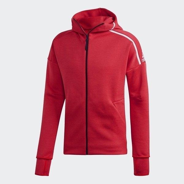 【一月大促折後$3180】ADIDAS Z.N.E. 男裝 外套 連帽 慢跑 訓練 排汗 透氣 紅 FL3992