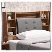 【水晶晶家具/傢俱首選】ZX1119-2蒙特利3.5尺低甲醛木心板床頭箱
