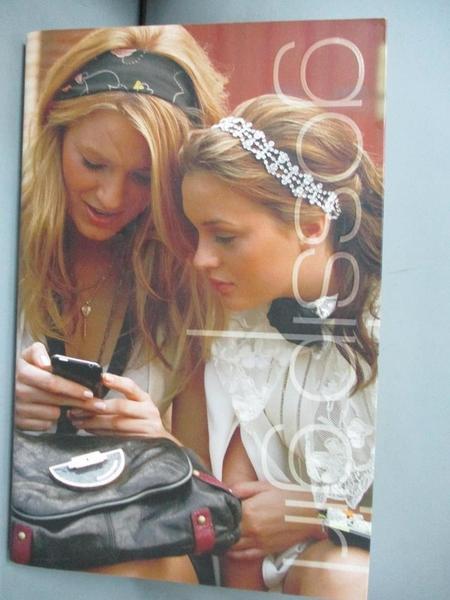 【書寶二手書T1/原文小說_GJD】Gossip Girl : a novel_by Cecily von Ziegesar