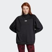 X-adidas Originals sweater 女款 雙標 全黑 長袖 棉t 愛迪達 黑色 FI1480