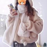 可愛毛絨圍巾女秋冬季ins潮少女日系學生百搭韓版加厚保暖圍脖套 格蘭小鋪