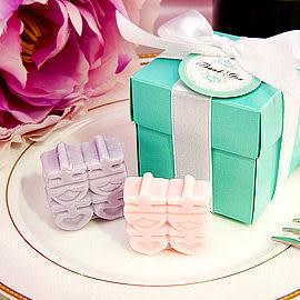 婚禮小物-歐美同步流行-Tiffany經典藍囍字皂禮盒-伴娘禮/活動禮/送客禮/來店禮/贈品 幸福朵朵
