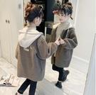 女童外套 女童羊羔毛外套洋氣時髦春裝兒童裝加厚中大童夾棉絨上衣潮【快速出貨八折鉅惠】