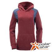 PolarStar 女連帽刷毛保暖衣 酒紅 P15208 連帽T 刷毛T
