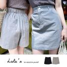 LULUS【A04200160】F自訂款素面高腰褲裙S-L2色