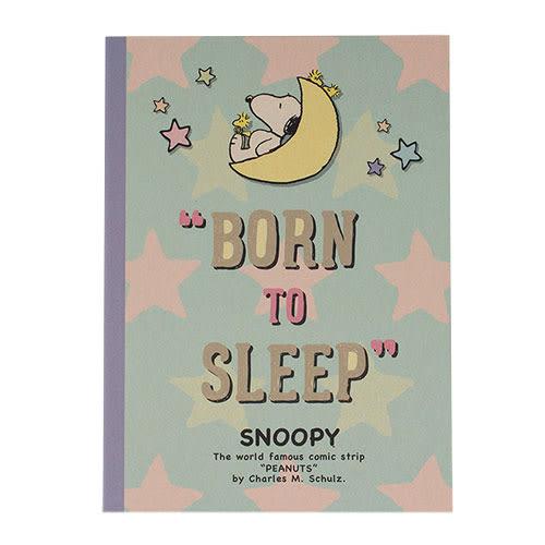 《sun-star》SNOOPY甜蜜夢鄉系列B5膠裝筆記本(星星薄荷綠)_UA52261