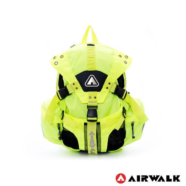 AIRWALK - 拼接原色三叉扣系列後背包