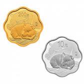 【台灣大洋金幣】2019中國己亥豬年梅花形15克金+30克銀本色金銀紀念幣套裝