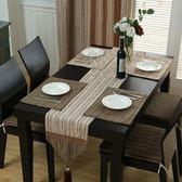 歐式餐桌桌旗茶幾餐墊裝飾布桌巾電視櫃西餐桌棉麻隔熱墊碗墊鞋櫃 歐韓時代