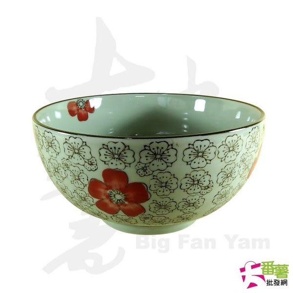 6吋陶瓷拉麵碗/飯碗 梅花紅富貴 (100201) [大番薯批發網 ]
