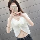鏤空罩衫女夏季2021新款時尚短款披肩外...
