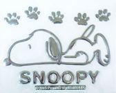 車之嚴選 cars_go 汽車用品【SN105】日本 SNOOPY 史努比 黏貼式車身貼飾 裝飾貼