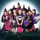 萬聖節服裝 兒童服裝萬聖節女巫女童巫婆服...