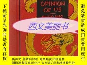 二手書博民逛書店【罕見】1927年版 A CHINAMAN S OPINION