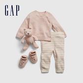 Gap嬰兒 布萊納系列 可愛針織長袖長褲套裝 678231-混色粉
