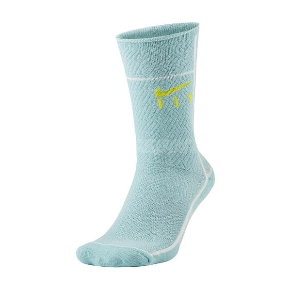 Nike 襪子 SNKR SOX Swoosh Fly 藍 黃 勾勾 籃球襪 運動襪 單雙入【ACS】 CU5855-310