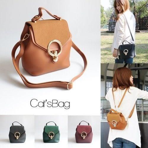 後背包-韓國特搜質感三用麂皮設計水桶包可後背-Catsbag-27960221-05