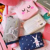 店長推薦 可愛萌小兔子旅行便攜洗漱包收拿學生少女帆布化妝包袋收納包卡通