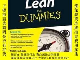 二手書博民逛書店Lean罕見For Dummies, 2nd EditionY410016 Natalie J. Sayer,