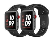 Apple Watch Nike GPS+ 行動網路 42mm 太空灰鋁金屬配黑色Nike運動型錶帶 現貨