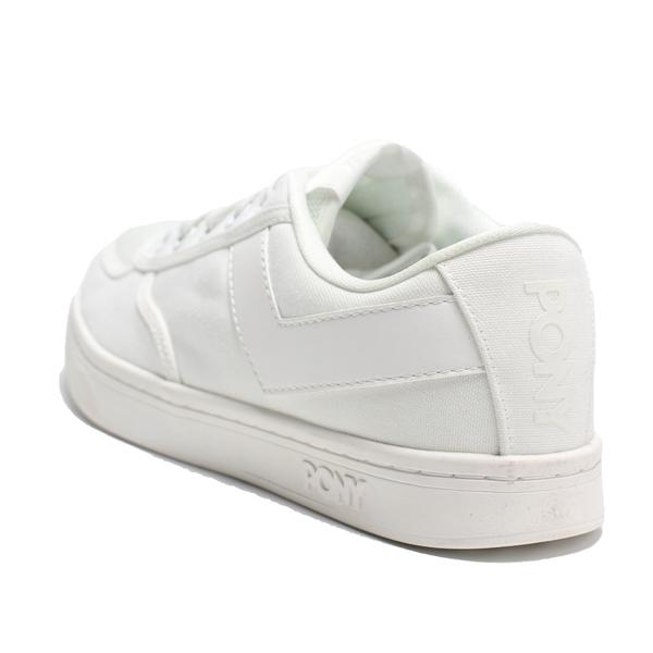 PONY 休閒鞋 SLAM DUNK 全白 帆布 板鞋 女 (布魯克林) 91W1SL05RW