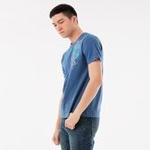 BigTrain天狗護衛圓領短袖-男-藍色/麻灰