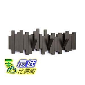 [106美國直購] Umbra 318211 213 時尚造型木質掛勾 Sticks 5-Hook Wall Hook  Espresso