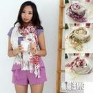 【現貨】G26 柔軟斜紋棉質碎花圍巾 入春圍巾披巾 橘魔法 magic G