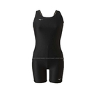 (B9) MIZUNO 美津濃 BASIC 兩件式 泳裝 泳衣 兩截式 背心 四角泳褲 N2MG9C0109黑 [陽光樂活]