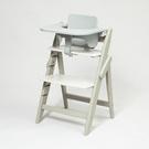 德國 Moji Yippy Cozy 全成長型原木高腳椅(含餐桌護圈)-象牙白