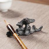 618好康鉅惠 陶瓷太湖石擱置怪石頭筆擱茶擱擺件筆架