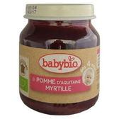 Babybio 有機蘋果藍莓鮮果泥130公克