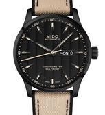 MIDO美度錶Multifort Chronometer天文台自動機械錶(M0384313705109)黑殼/米色帶/42mm