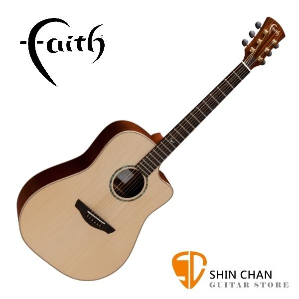 Faith 英國名牌 FSCHG 41吋 全單板 民謠吉他 附贈吉他硬盒 CASE 印尼製【型號:FSCHG/木吉他】