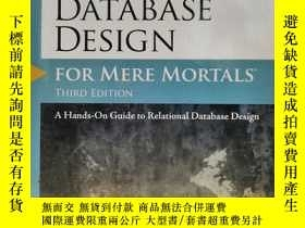 二手書博民逛書店Database罕見Design for Mere Mortal