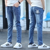 男童夏季超薄款牛仔褲子長中大童12歲15修身兒童彈力潮韓版裝帥氣 快速出貨