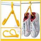 創意多用途可折合掛鉤式曬衣架鞋架/購物袋...