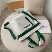 帆布手提包 包包學生韓版帆布包斜背女日系單肩包大容量女2019學生手提托特包 4色