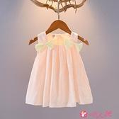 女童吊帶洋裝 0-3歲女童連身裙1女寶寶夏裝背心裙2嬰兒童裝公主裙子4小童吊帶裙 小天使 99免運