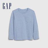 Gap男幼童 活力亮色圓領休閒長袖T恤 577619-淺藍色