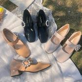 瑪麗珍鞋2020春季瑪麗珍單鞋女粗跟方頭一字扣復古法式仙女風晚晚小皮鞋潮 JUST M