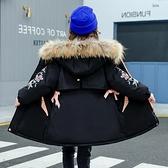 夾克外套兒童加絨棉服 中長款女童外套女孩棉襖 潮流秋冬羽絨服羽絨外套 韓版外套中大童上衣