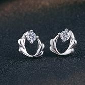 耳環 925純銀鑲鑽銀飾-高貴溫柔生日情人節禮物女飾品73dy129【時尚巴黎】