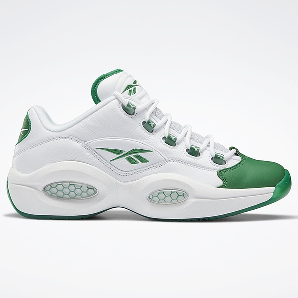 REEBOK QUESTION LOW 男鞋 籃球 艾佛森 皮革 白 綠【運動世界】GZ0367