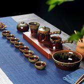 茶具套裝家用簡約復古中式景德鎮陶瓷器功